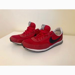 Men's red Nike sneakers